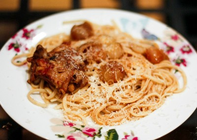 Pasta with Chicken & Tomato Sauce