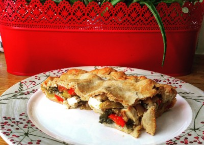 Red & Yellow Bell Pepper Pie