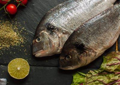 Sea bream with Swiss Chard Salad