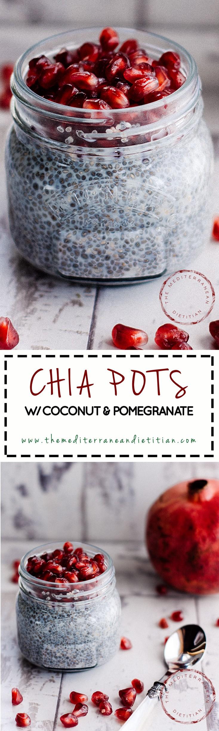 Pomegranate CHIA POTS