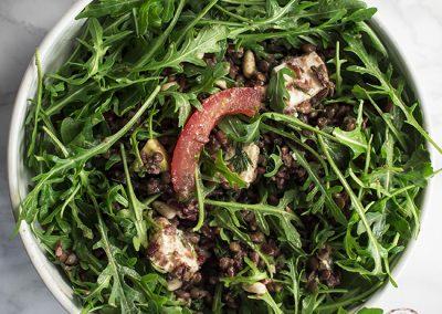 Lentil, Red Rice & Arugula Salad