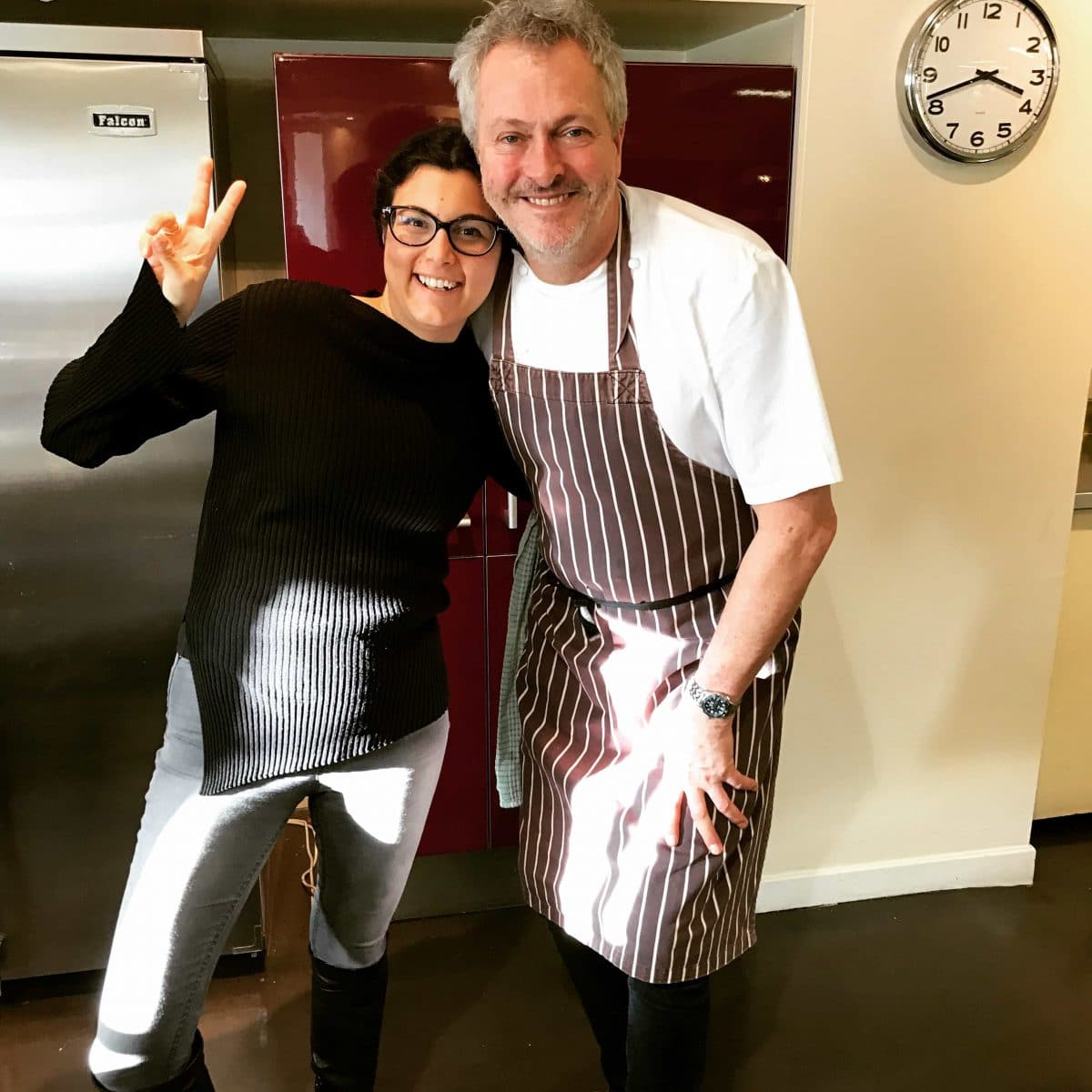 Chef Nick Nairn and Glasgow dietitian, Katerina Vasilaki