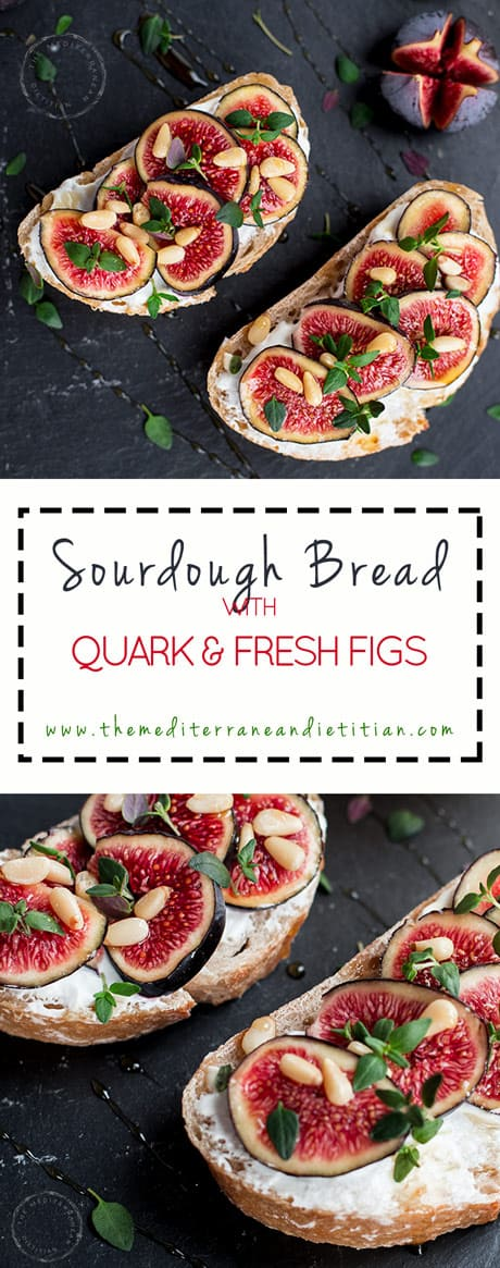 Bread with fresh figs and quark