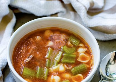 Tomato Chicken Soup with Carrots & Celery