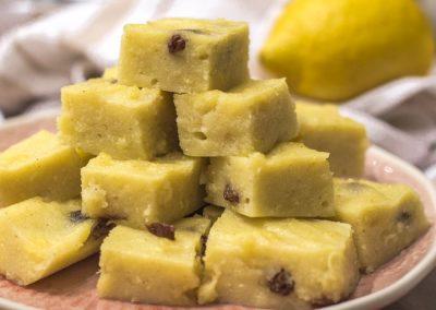 Halva Bites with Raisins & Citrus Zest