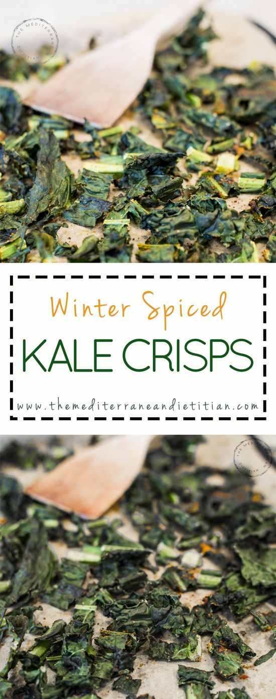kale crisps with winter spices
